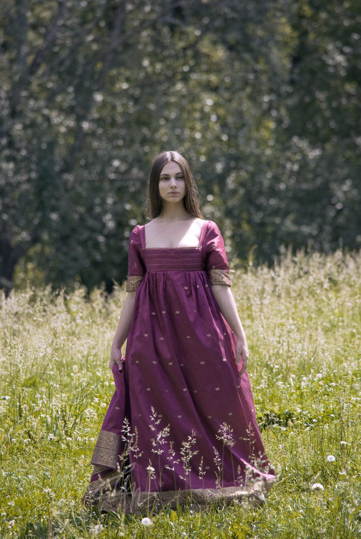 Vanity Fair, a regency inspired dress - Grimilde Malatesta